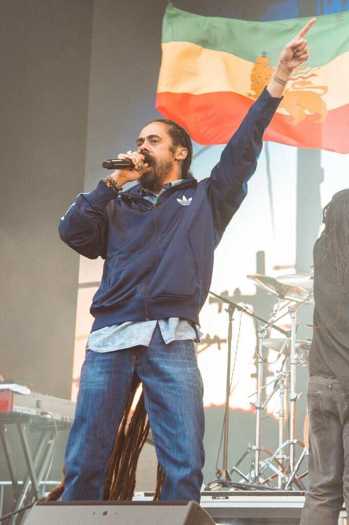 Damian Marley se produit sur scène le jour 3 du festival The Ends à Lloyd Park le 02 juin 2019 à Croydon, en Angleterre. (Photo de Joseph Okpako/WireImage)