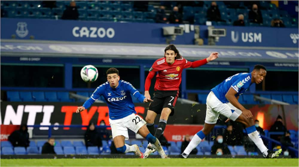 Everton vs Manchester United: Cavani, Martial produce late goals to sink Toffees