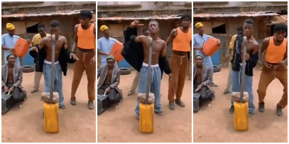 Local Group Put up Vibrant Display as they Perform Old Wizkid Songs in Viral Video and People Love it