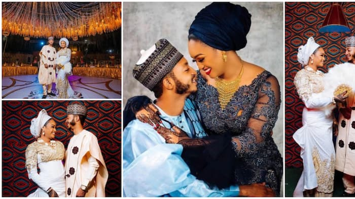 Cute photos as Jigawa state governor's son marries pretty lady he met on social media, Nigerians react