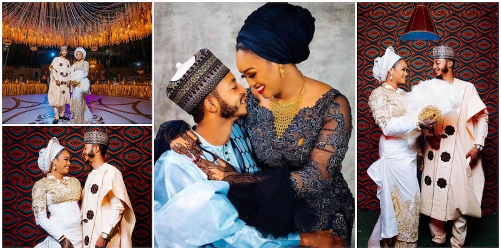 Nigerians react as Jigawa state governor's son marries fine lady he met on Snapchat