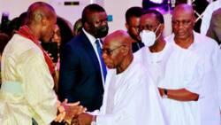 Obasanjo, Gov Okowa, task new Olu of Warri on nation-building