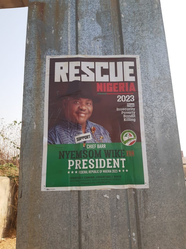 This governor is trying to become Nigeria's president, his posters are now in Abuja