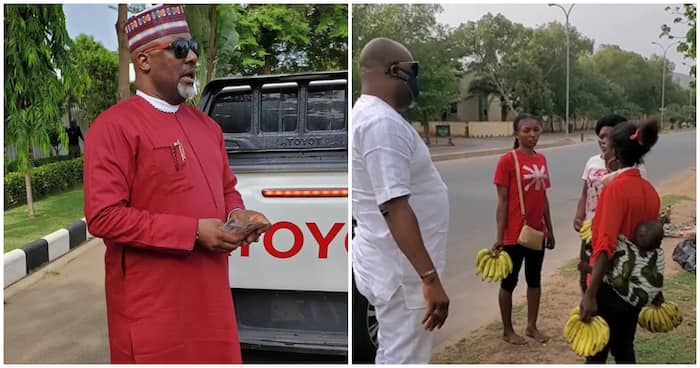 Dino Melaye gives N10k each to hawkers seen outside amidst lockdown