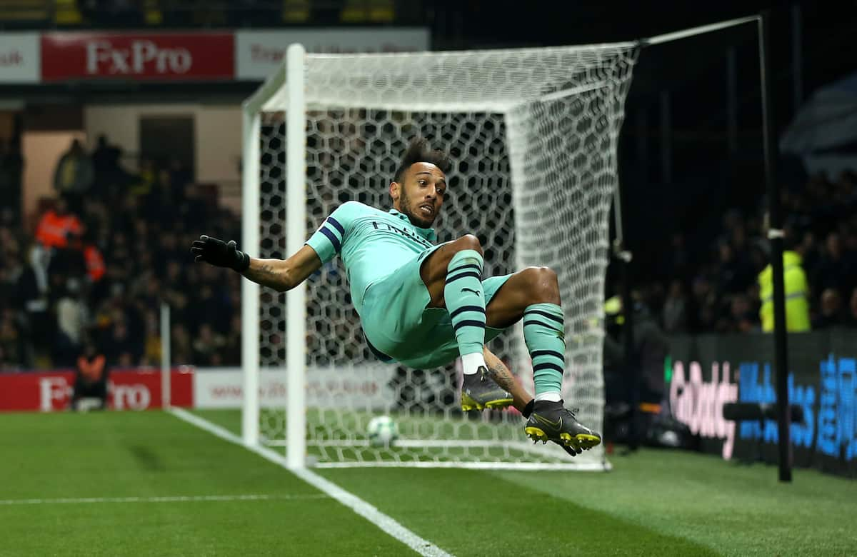 Pierre Aubameyang's goal gives Arsenal 1-0 win over Watford