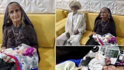 Allah gwanin kyauta a lokacin da ya so: Wata mata mai shekaru 70 ta haifi danta na fari
