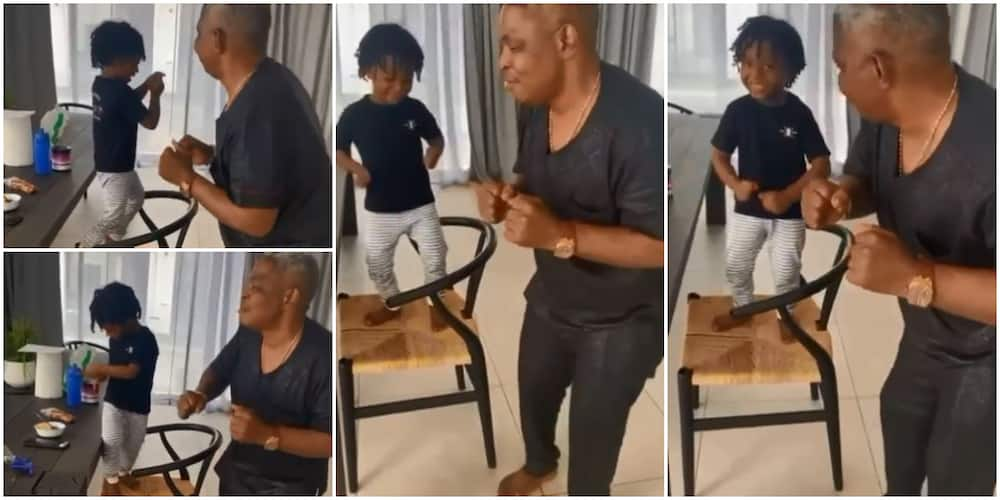 Eid-el-Fitr: Wizkid's Youngest Son Zion Happily Dances to Muslim Song With Singer's Manager, Stirs Reactions
