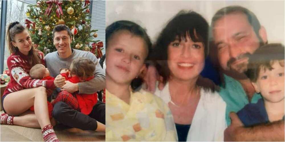 Robert Lewandowski celebrates Christmas with family, shares throwback photo