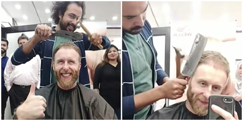 Barber Uses Butcher's Knife, Broken Glass and Hammer to Cut and Style Hair, Video Goes Viral