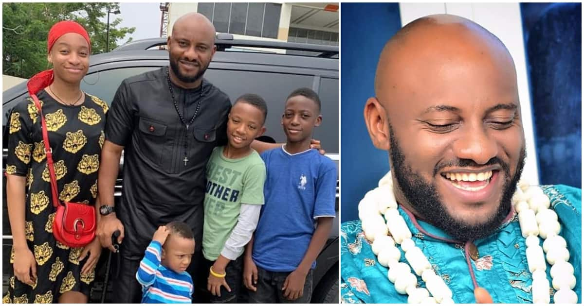 Image result for images of Yul Edochie with his kids