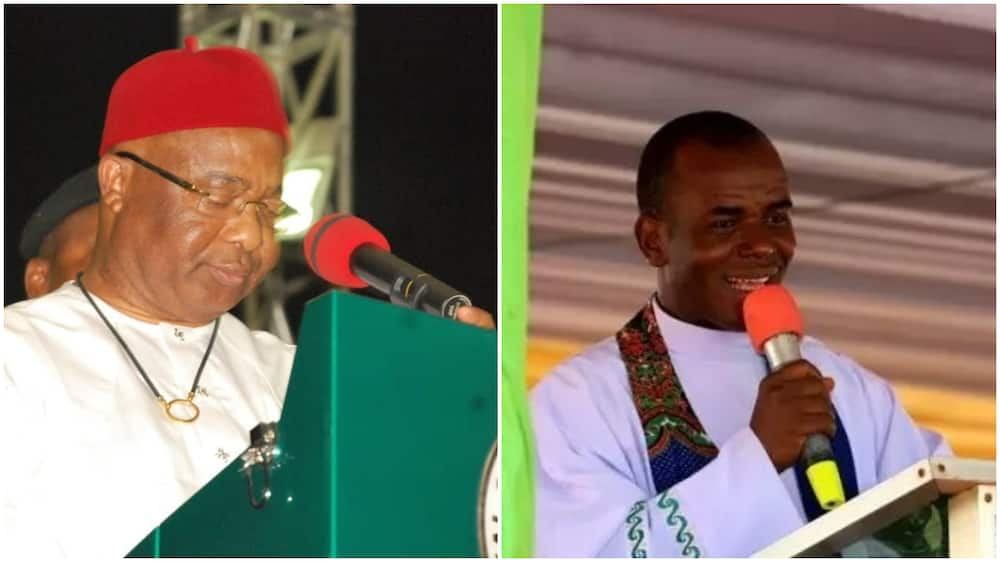 Father Mbaka Speaks on Imo Crisis, Says Gov Uzodinma Is Making Expensive Mistakes