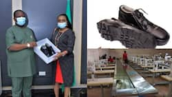 Nigerian Railway Corporation acquires 3,000 Aba-made boots from Enyimba shoe factory