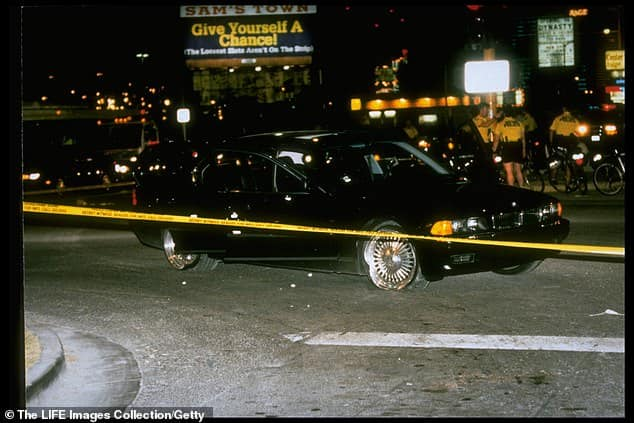 BMW Sedan carrying Tupac when he was shot dead in 1996 is put up for auction for $1.75million in Las Vegas
