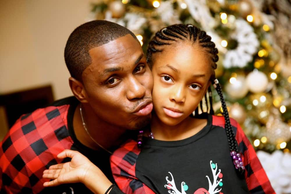 Odion Ighalo and his daughter