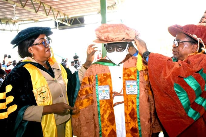 Tinubu Bags Doctorate Degree in Northern State, Photos Emerge