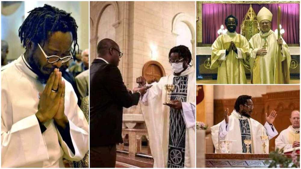 Catholic Church ordains man with tattoos as priest, Nigerians react