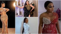 AY at 50: BBNaija Tacha, Mercy Aigbe, others 'contest' for best dressed as they show up at comedian's party