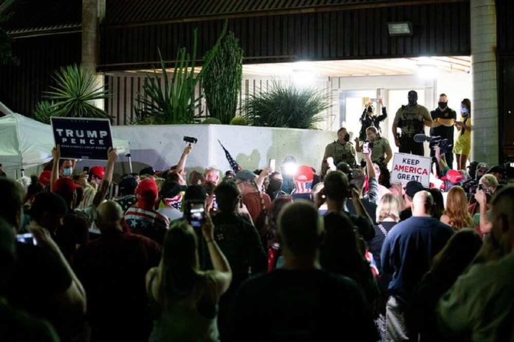 Zaɓen Amurka: Magoya bayan Trump sunyi zanga-zanga wurin ƙidayar ƙuri'u ta Arizona