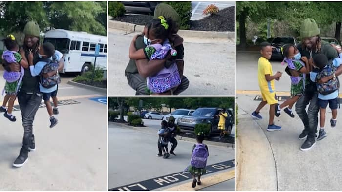 Paul Okoye's kids scream with joy in adorable video as he reunites with them in US amid divorce rumours