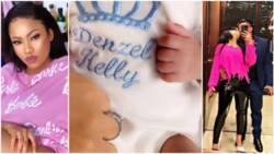 2018 BBNaija star Nina Ivy welcomes first child with husband, names him Denzel