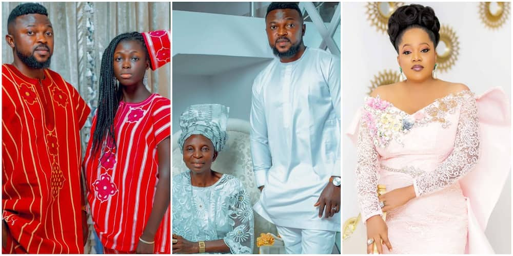 Double celebration: Toyin Abraham's stepdaughter, mother in law mark birthdays (photos)
