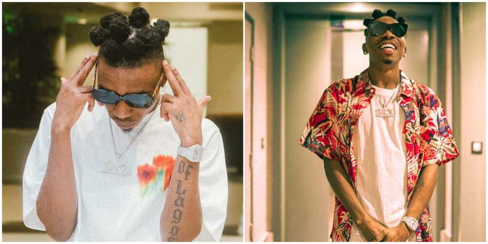 Singer Mayorkun changes hairstyle