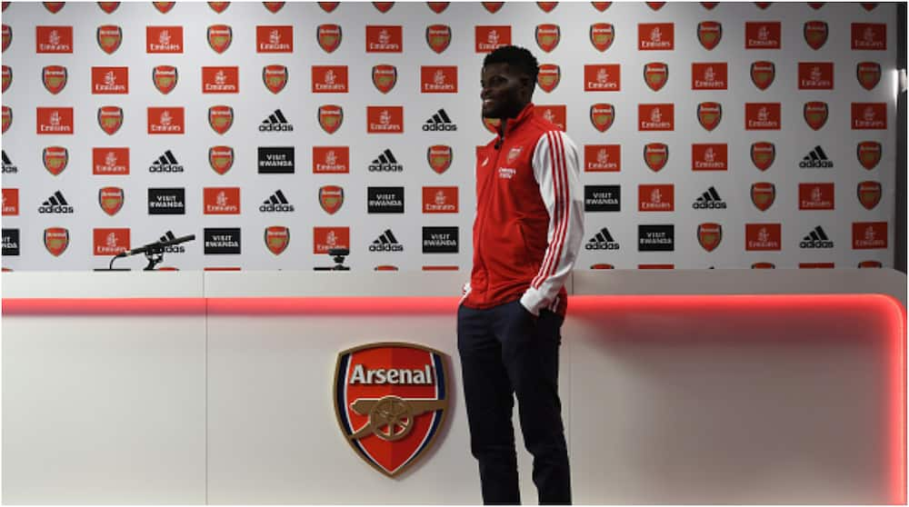 Thomas Partey: New Arsenal signing finally meets Aubameyang and Alexandre Lacazette