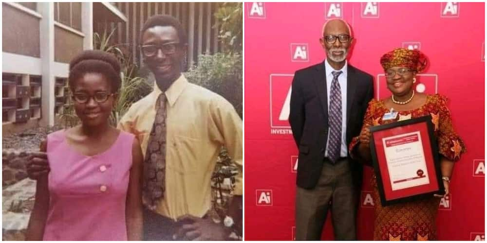 Nigerians react to Ngozi Okonjo-Iweala husband's shoe in emerging photos, many are surprised