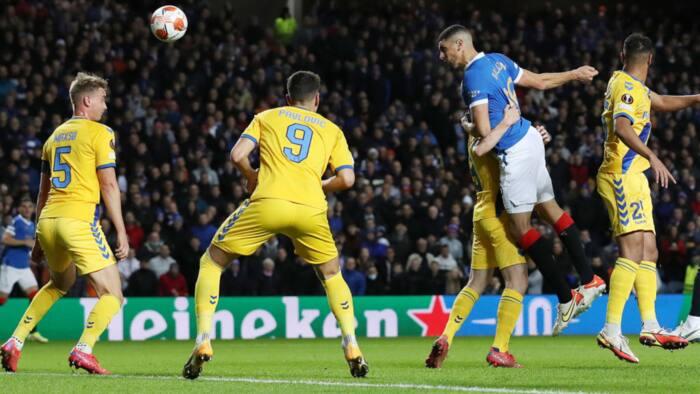 Jubilation as Super Eagles top star scores first Europa League goal