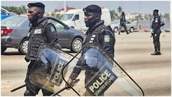 BREAKING: Tension as #EndSARS Memorial Protest gets rowdy, police fire teargas to disperse protesters