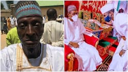 70-year-old man offers his daughter to President Buhari's son to marry as second wife, photos spark reactions