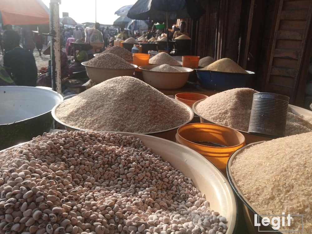 A big bag of beans is sold from N55,000 upwards in popular Lagos market. Photo credit: Esther Odili