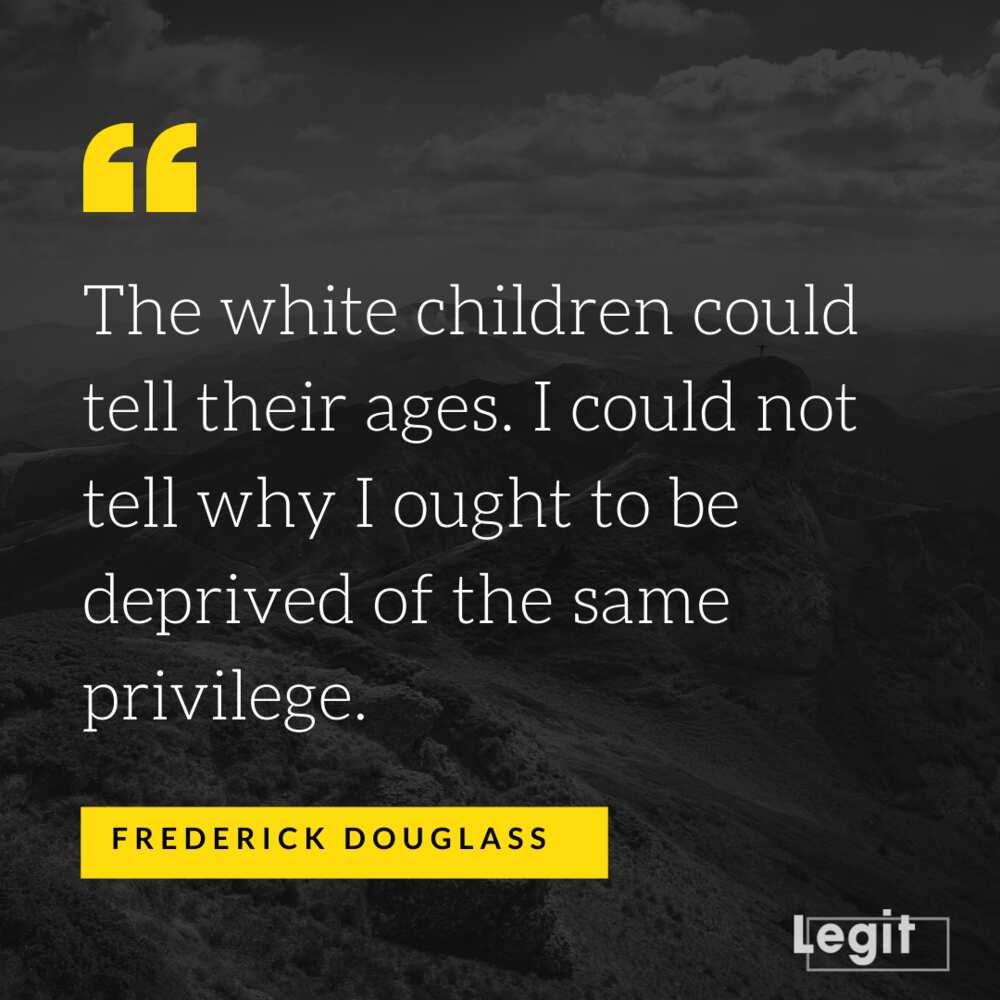 Frederick Douglass quotes on slavery