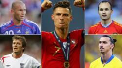 Cristiano Ronaldo beats Zidane, Maldini and 61 other football legends to land prestigious award