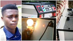 Young Nigerian student builds power bank for laptops, emergency wall lamp and power station