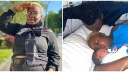 It's a boy: Yoruba movie actress Olaide Oyedeji puts to birth, shares video