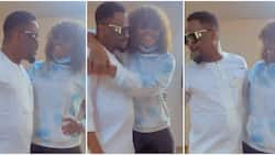 Zubby Michael and Chizzy Alichi end beef, hugs passionately weeks after fighting dirty over king of boys movie
