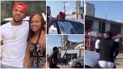 Actor Charles Okocha goes gaga, destroys friend's car after seeing his daughter in it, fans react
