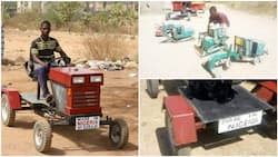 Young Nigerian man builds tractor, other vehicles, wows people with his craft (photos)