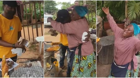 Corn seller gets emotional as she receives help of N103k from customer, video stirs massive reactions