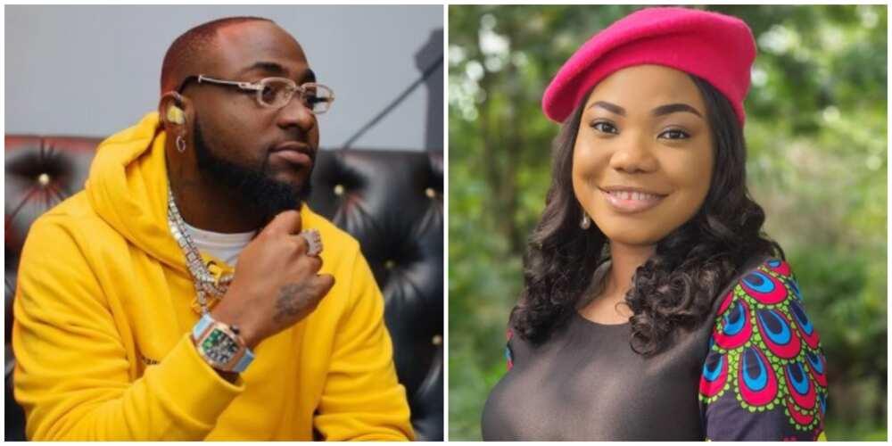 Davido praises God as listens to gospel singer Mercy Chinwo, reactions