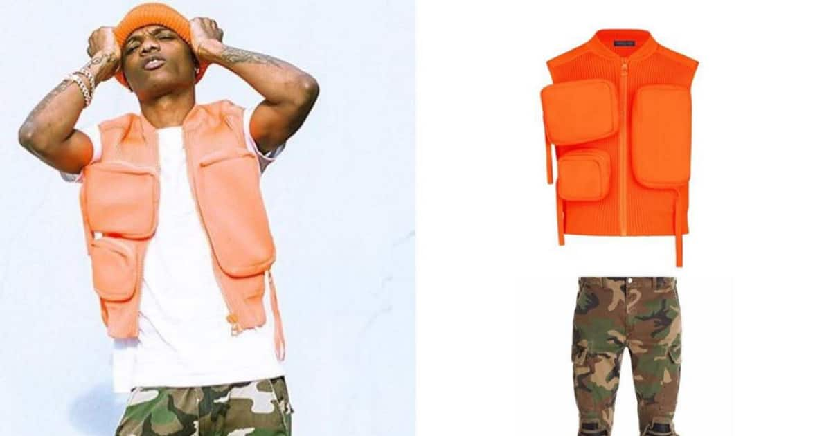 Wizkid rocks N1m Louis Vuitton rubber utility gilet jacket ahead of song release