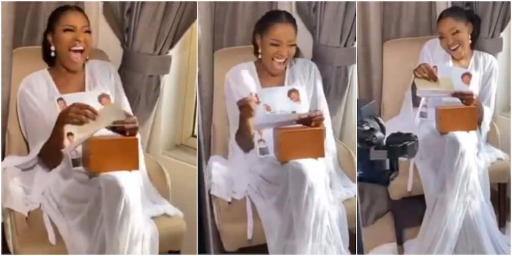 Who Doesn't Like Money? Cute Bride Says in Excitement as Hubby Gifts Her Cheque on Wedding Morning, Many React