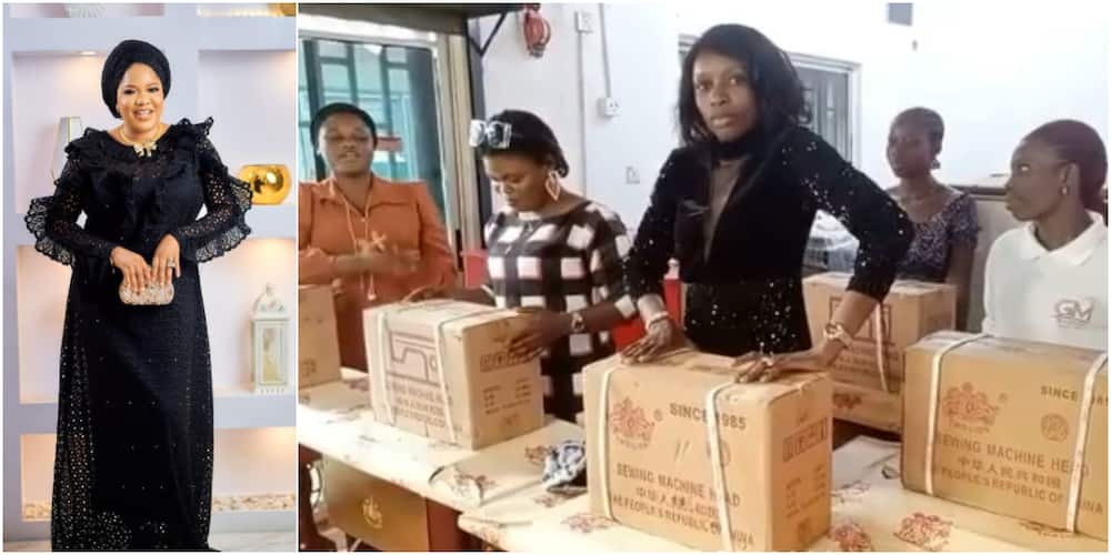 Toyin Abraham empowers her fans as she buys sewing machines for 5 of the