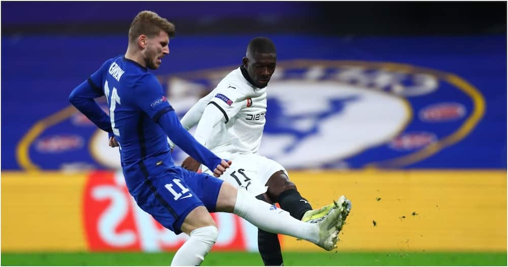 UCL: Werner scores 2 penalties as ruthless Chelsea beat 10-man Rennes 3-0