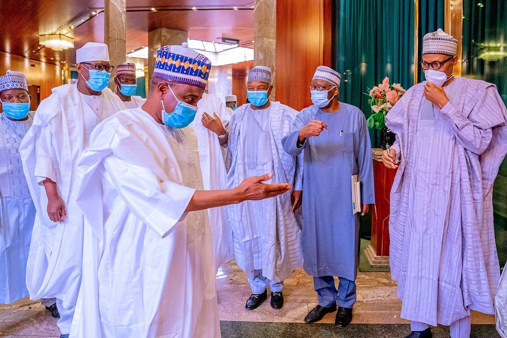 Uncertainty as President Buhari holds discussion with northern governors in Aso Rock