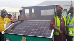 Buhari's minister excited as Yabatech students students build solar-powered car (see video)