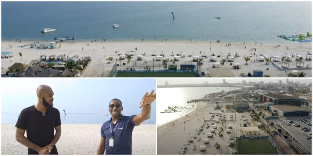 Man leaves UK to start business in Nigeria, builds the most beautiful and biggest beach in the country