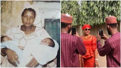 Adorable photo of Nigerian twins with their mother many years after they were born goes viral