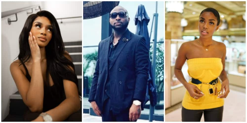 Davido's name mentioned as Nigerian model Eva and best friend fall out